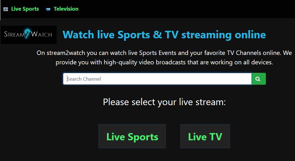Free Online Sport streaming platform - Stream2Watch