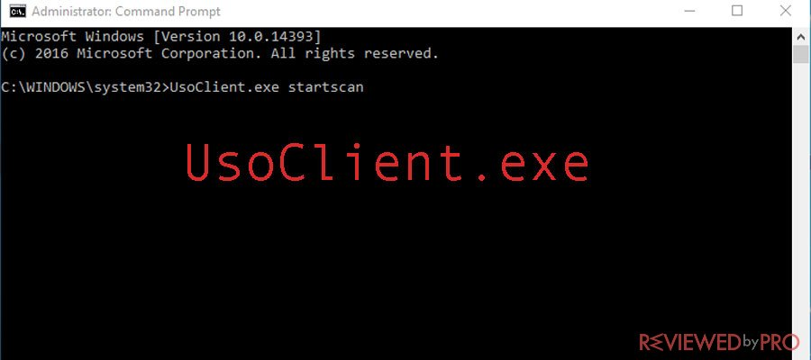 The usoclient.exe process. What is it and how to disable it