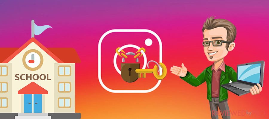 unlock instagram at school