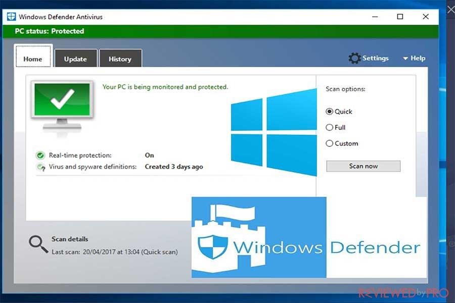 windows defender antivirus