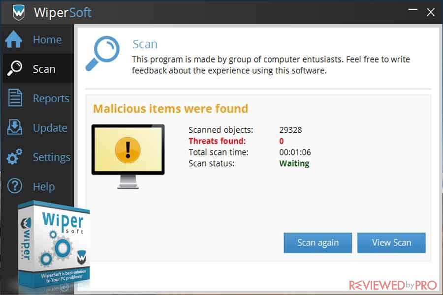 WiperSoft detected threats cleaned