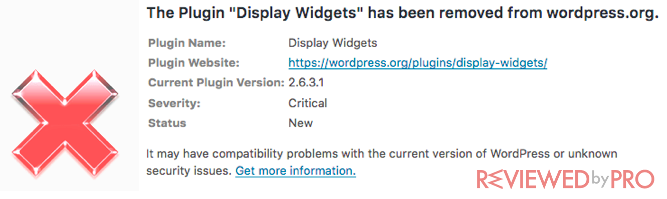 WordPress plugin error