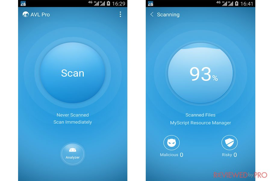 AVL Antivirus for Android Scanning