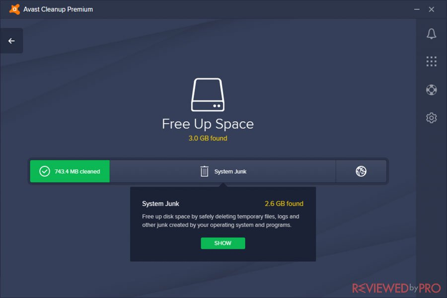 Avast CleanUp Free Up Space