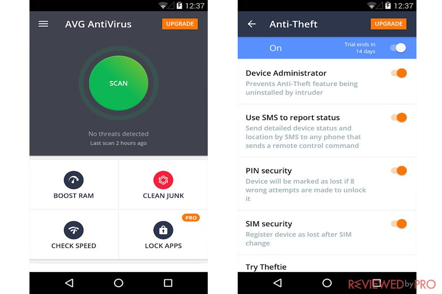 AVG Free AntiVirus for Android review