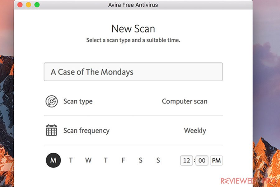 Avira Mac new scan