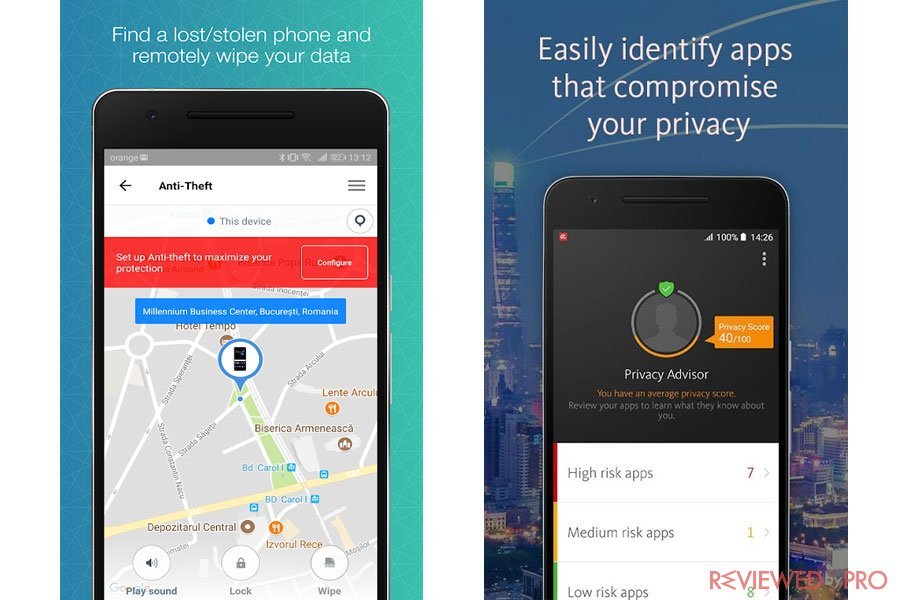 Avira Security features for Android