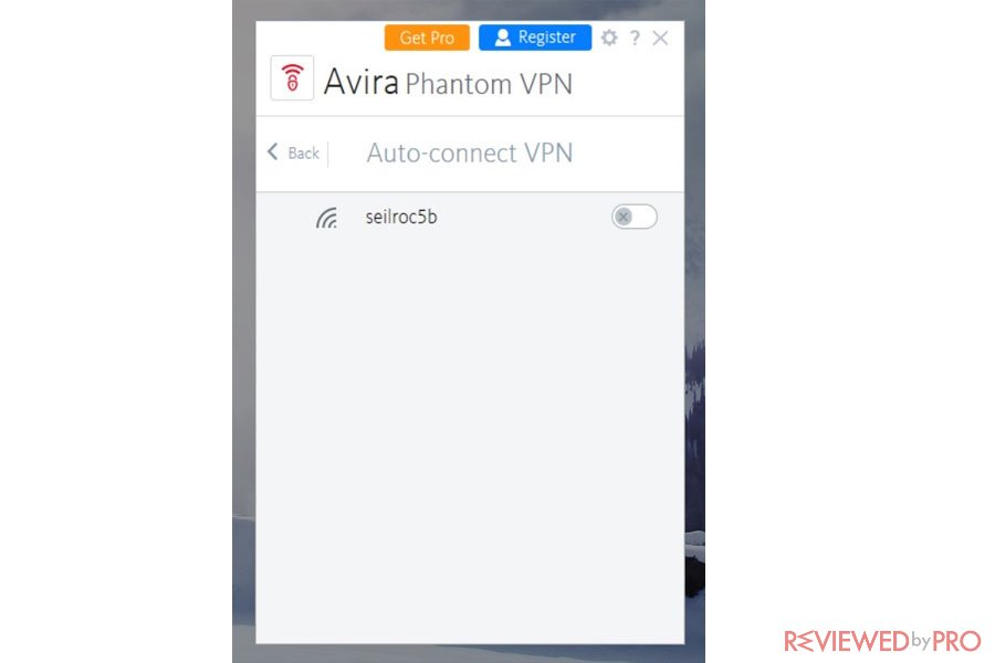 Avira Phantom VPN Auto Connect