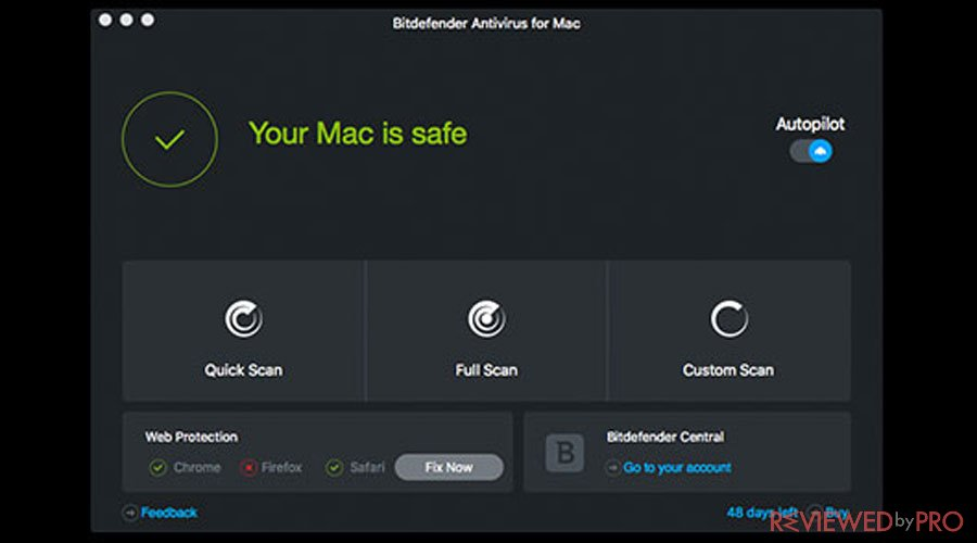Bitdefender Mac is safe