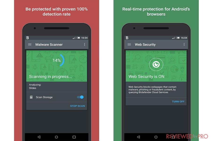 Bitdefender Mobile security protection