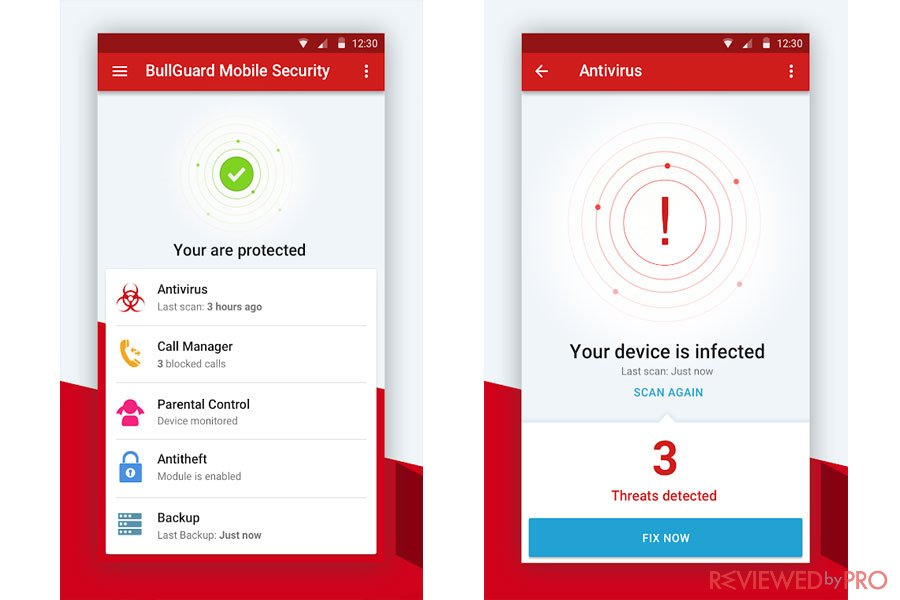 BullGuard Mobile antivirus features