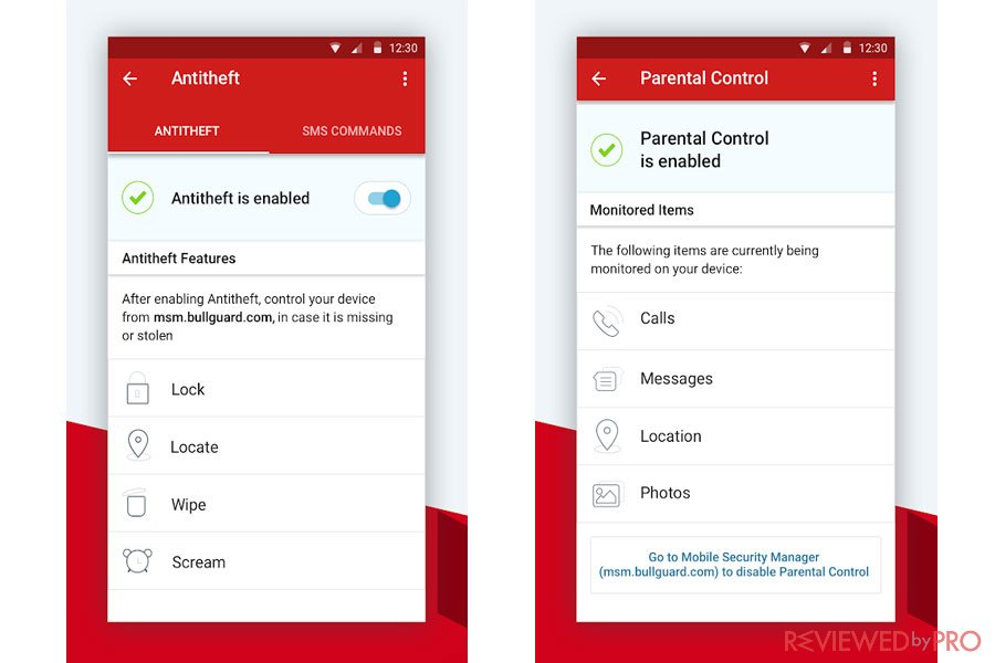 BullGuard Mobile Security for Android AntiTheft