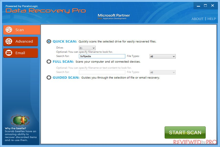 Data Recovery Pro Scanning Options