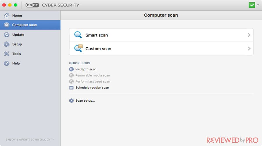 ESET Cyber Security for Mac Scan
