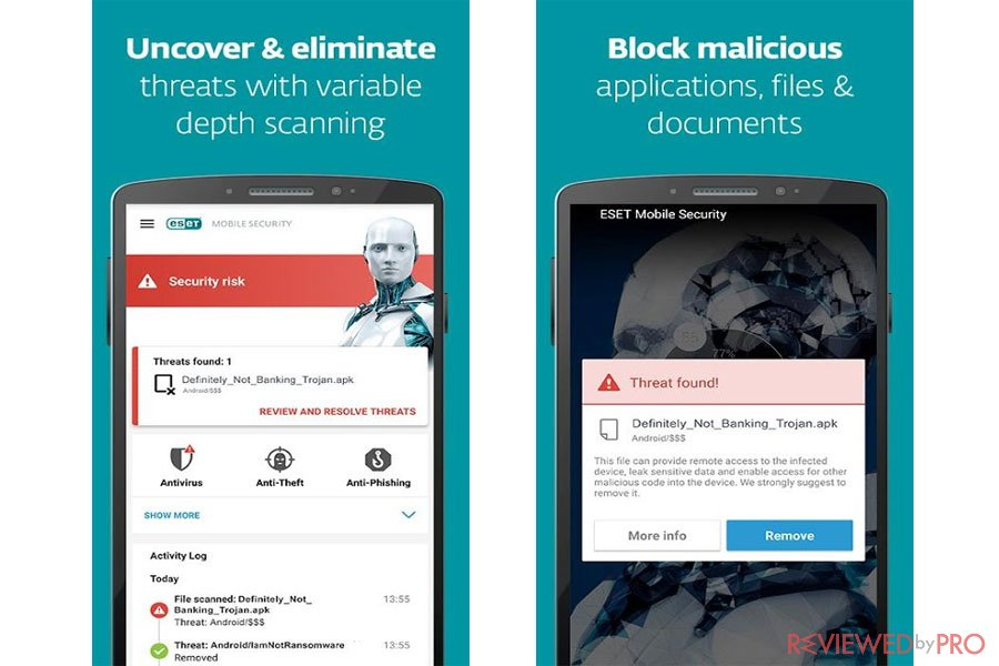 ESET Mobile Security for Android features