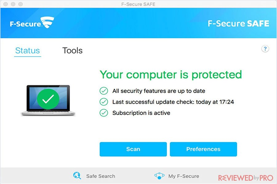 F-Secure Safe for Mac protected