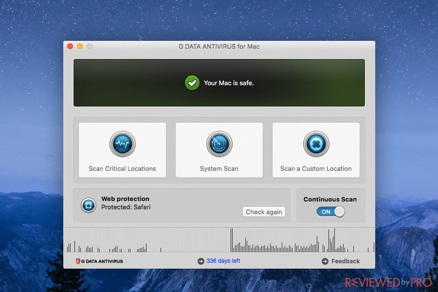 G DATA Antivirus for Mac Safe