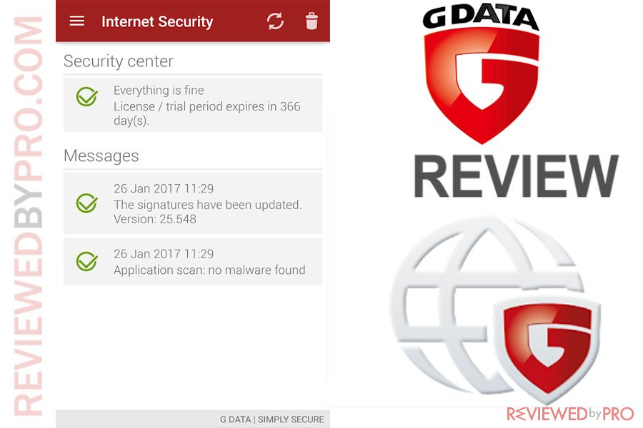 Reviews g data internet security