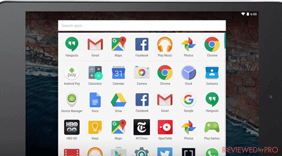 Google Play protect tablet security