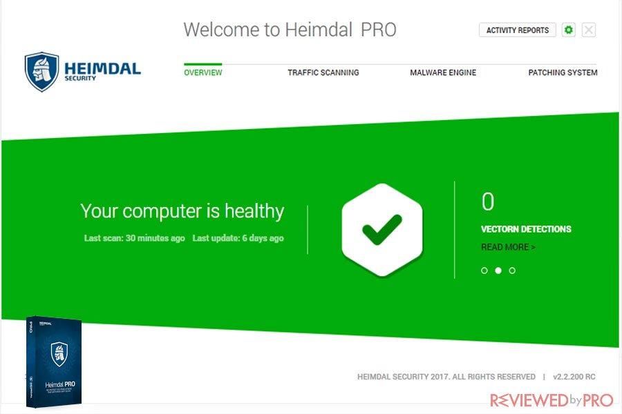 Heimdal Pro health Status