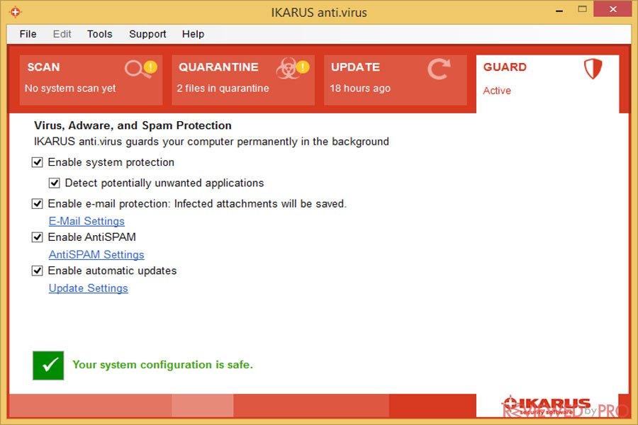 IKARUS anti.virus screenshot