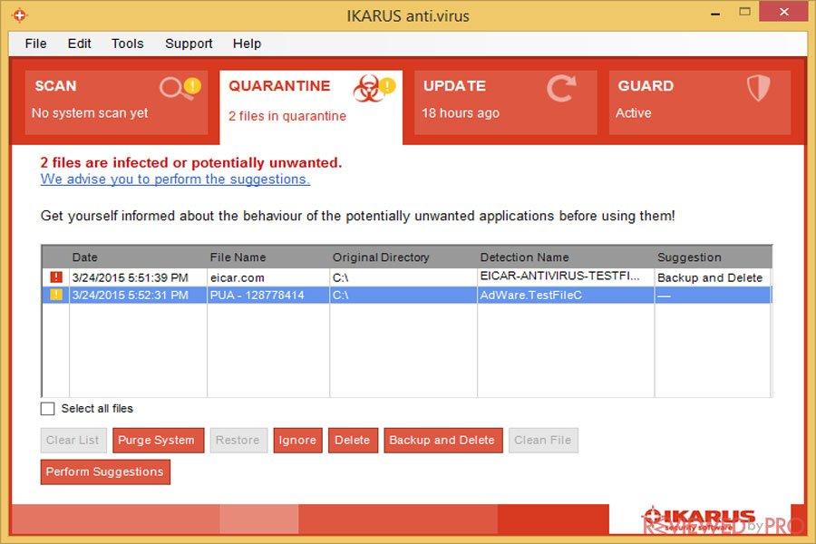 IKARUS anti.virus PC Protected