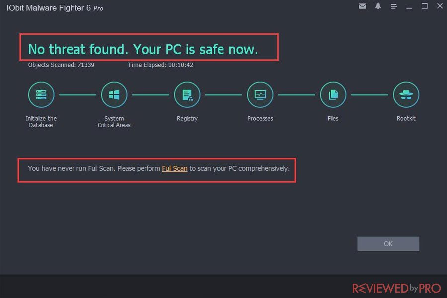 IObit malware fighter 6 safe PC