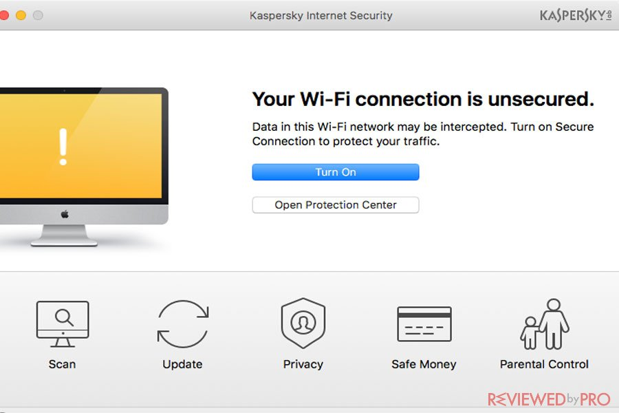 Kaspersky internet Security for Mac insecure Wi-Fi