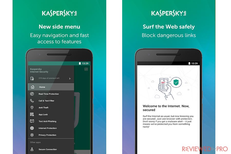 Kaspersky Mobile Antivirus Interface