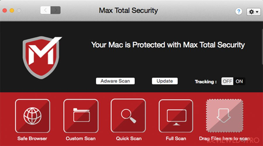 Mac Total Security interface protected