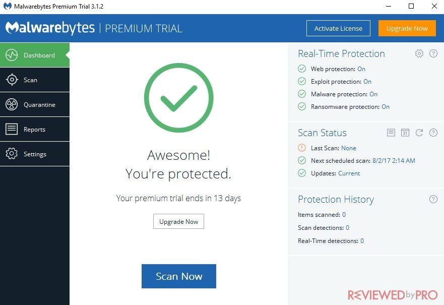 Malwarebytes review malwarebytes anti malware is a very stable and reliable software scans are really quick for example a hyper scan only takes about half a minute to ccuart