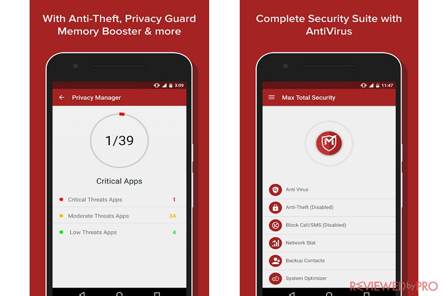 Max Mobi Secure Total Security Features