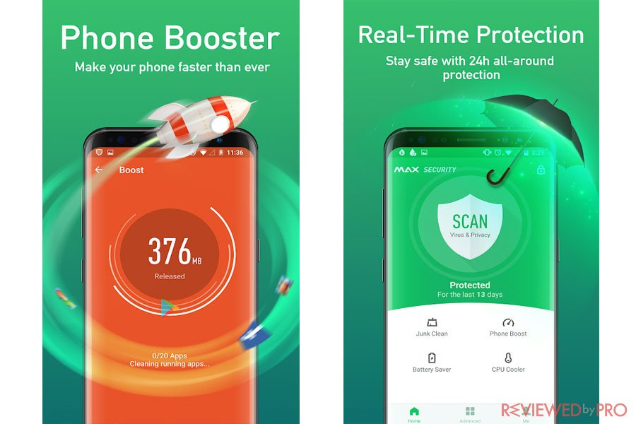 MAX Security for Android booster