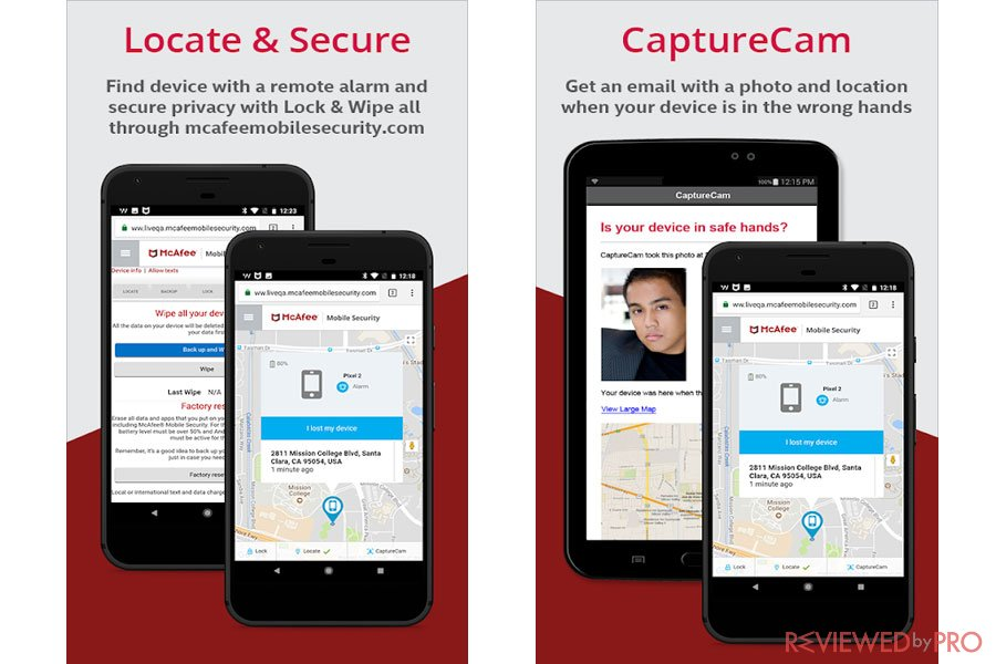 McAfee Mobile Security ID Theft Features