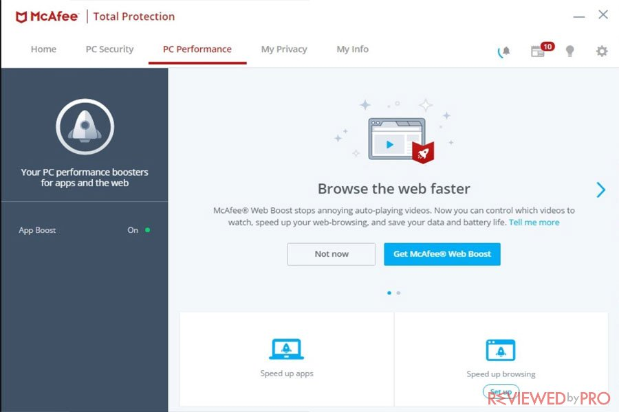 McAfee Total Protection Performance