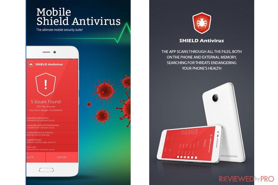 Mobile Shield Antivirus for Android screenshots