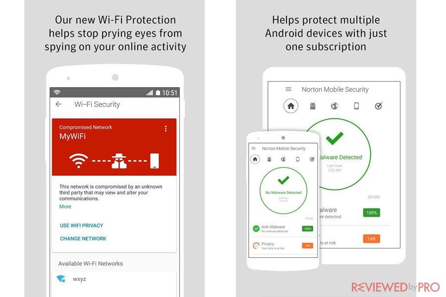 Norton Mobile Antivirus features