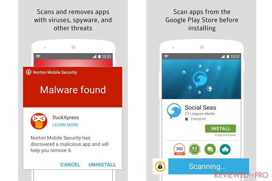 Norton Mobile Security and Antivirus 2018 screenshots