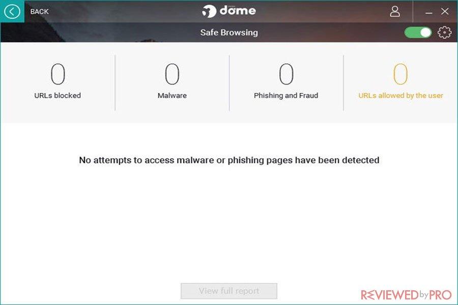 Panda Dome Safe Browsing