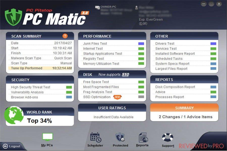 PC Matic Dashboard