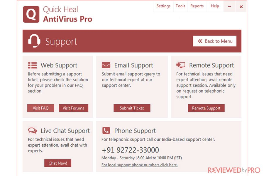 Quick Heal Antivirus Pro Support