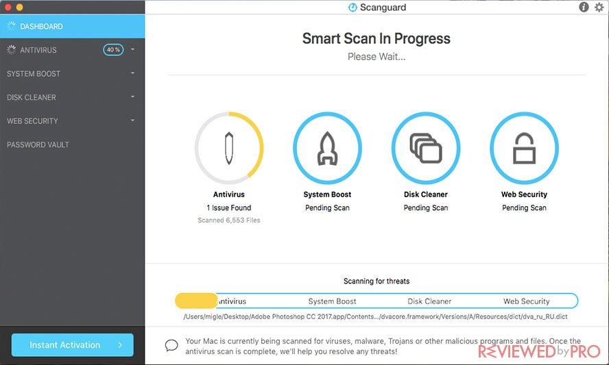 ScanGuard Antivirus for Mac Smart Scan