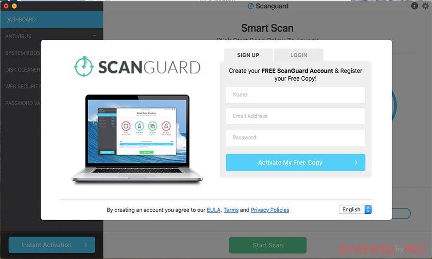 ScanGuard Antivirus for Mac started