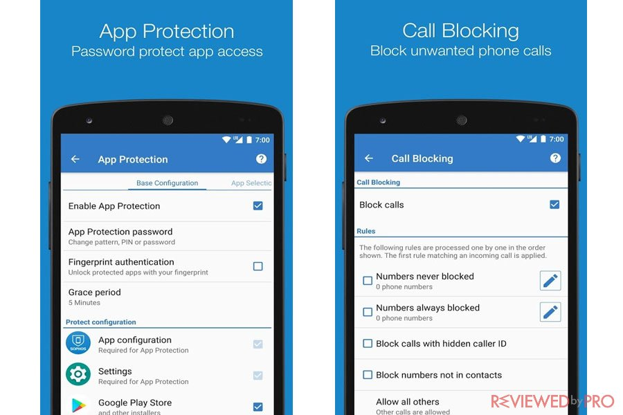 Sophos Mobile Security for Android Features