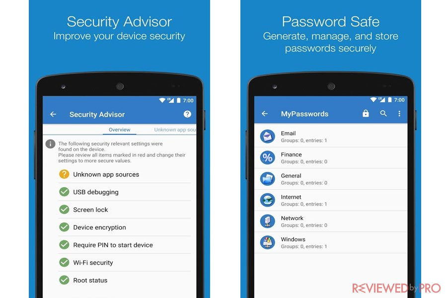 Sophos Mobile Security Privacy Features for Android