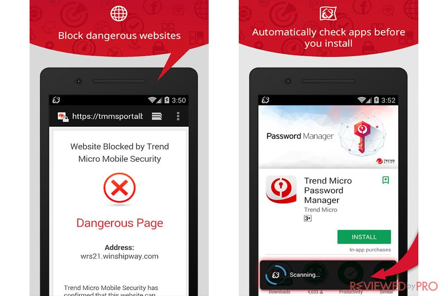 Trend Micro Mobile Security Features