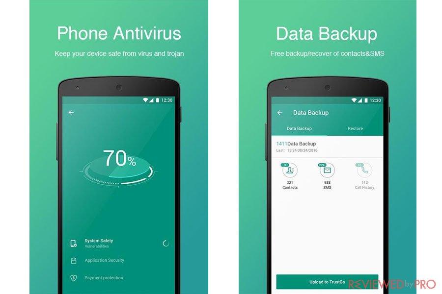 TrustGo Antivirus & Mobile Security features