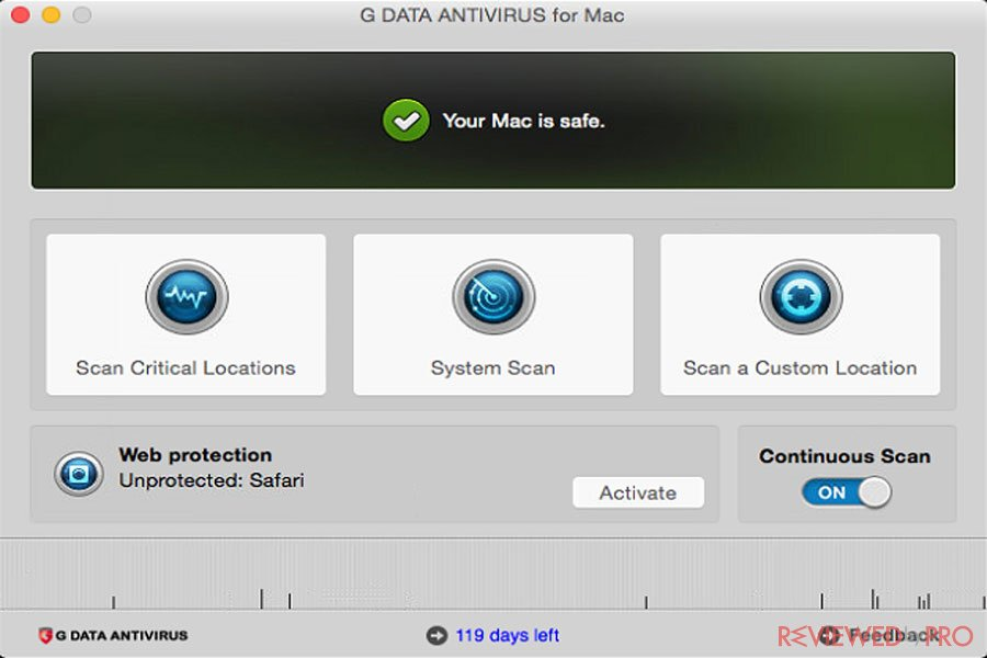 G DATA Antivirus for Mac update
