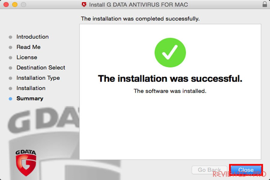 G DATA Antivirus for Mac install