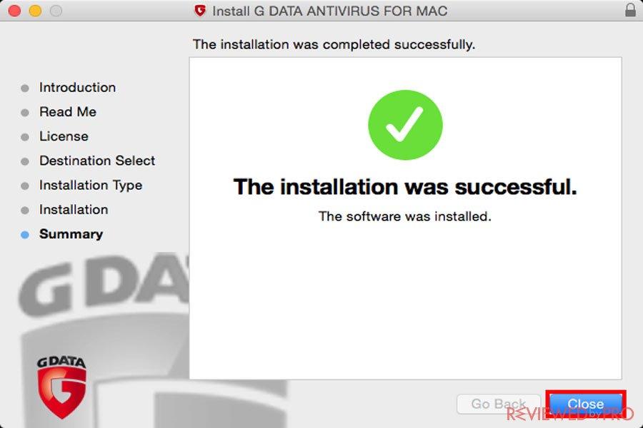 G DATA Antivirus for Mac install